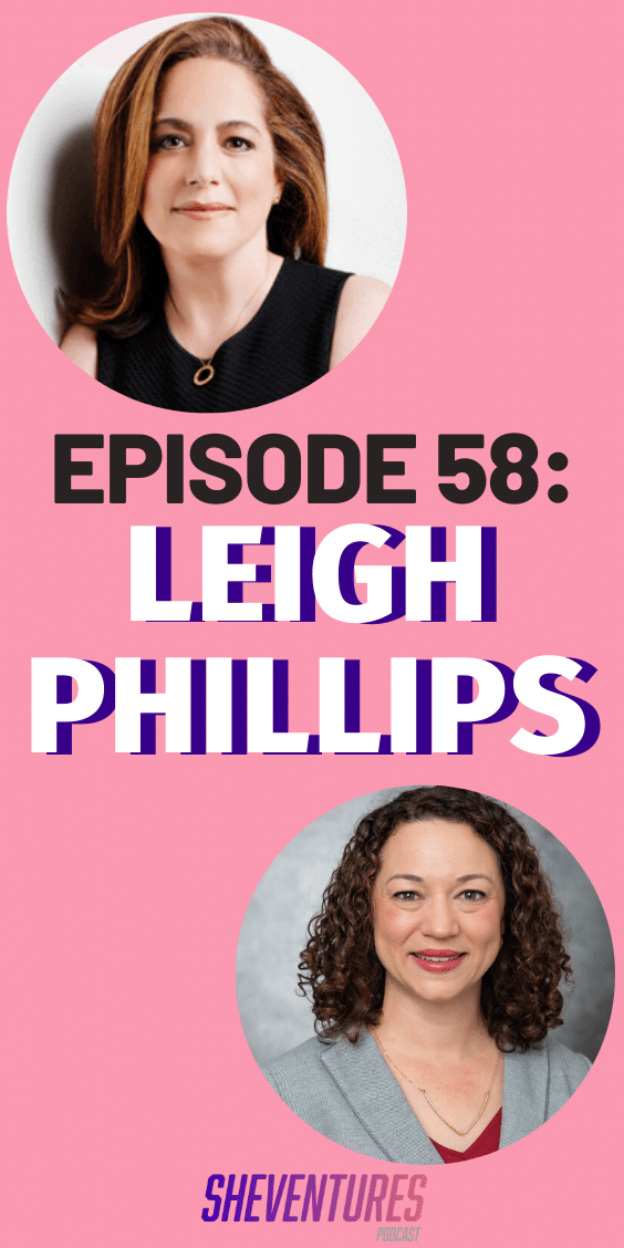 Listen as SaverLife CEO and President Leigh Phillips talks the importance of financial literacy, saving, the poverty cycle, and so much more. #SheVenturesPod #podcast #entrepreneur #motivation #entrepreneurinspirationwomen